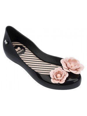 Zaxy kids blossom shoes in black contrast