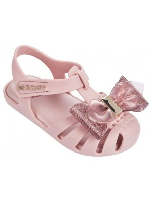 Zaxy glamour bow sandals in blush