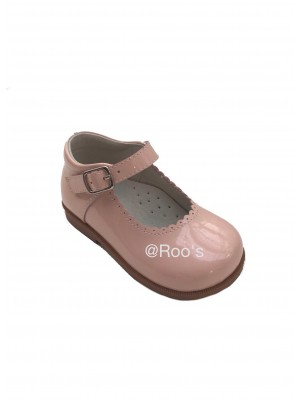 mary Jane shoes pink leather (optional bows)