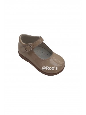 mary jane leather shoes camel (optional bows)