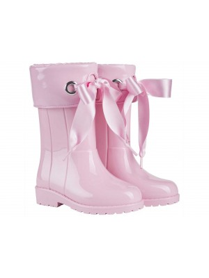 igor ribbon wellies pink