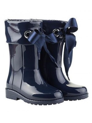 Igor ribbon wellies navy