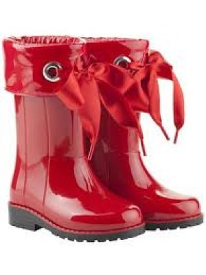 Igor ribbon wellies red