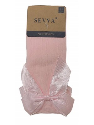 Knee high ribbon socks pink