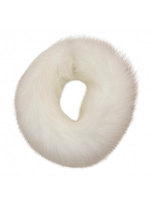 Luxury faux fur headband white