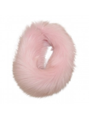 luxury faux fur headband pink