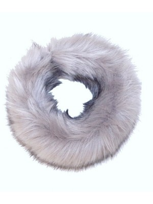 luxury faux fur headband grey