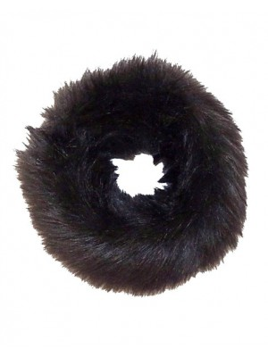 luxury faux fur headband black