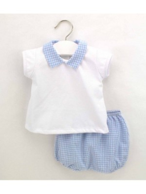 rapife blue gingham top and pants set