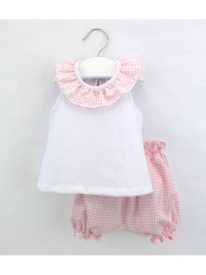 rapife pink gingham top and bloomers