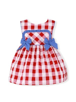 Miranda red white and blue checked dress