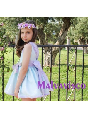 amor de madre lilac and mint dress for older girls