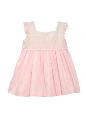Babine pink lace trim puffball dress