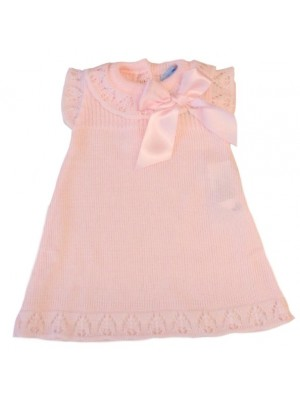 Sardon pink knitted a line dress