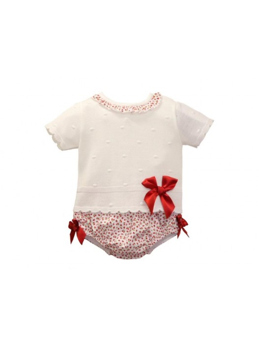 Sardon strawberry print 2 piece set