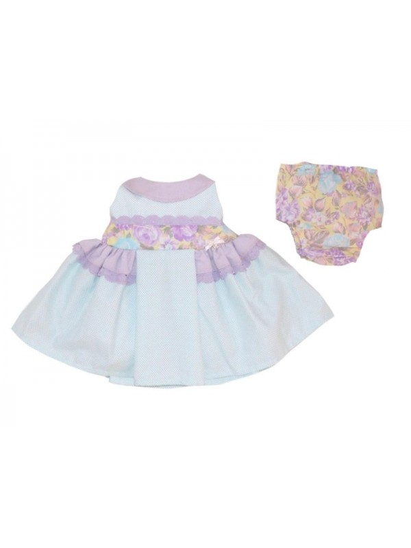 amor de madre lilac and mint puffball dress and knickers