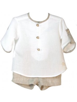 Cocote boys linen shorts and shirt set