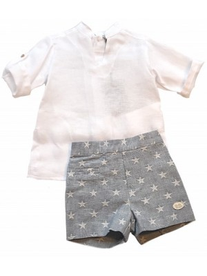 Jose Varon star shorts and shirt set