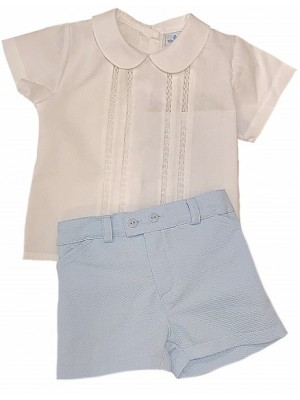 Sardon blue shorts and shirt set