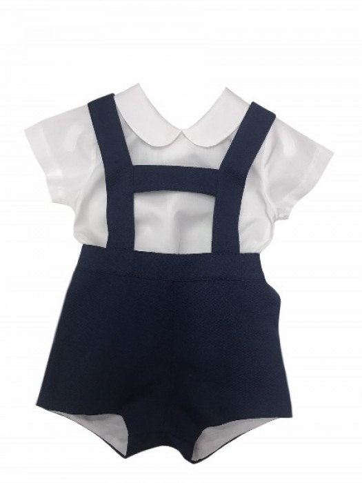 Sardon navy h-bar set with Peter Pan shirt