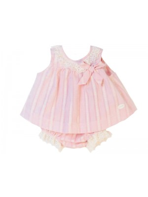 Cocote pink and cream dress and knickers set