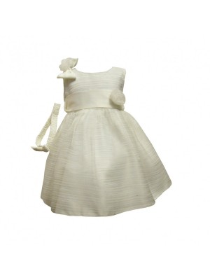 Ivory sheer special occasions dress and headband set