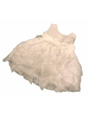 Ivory ruffle special occasion dress and headband