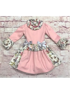 Amore de matre pink and grey puffball dress