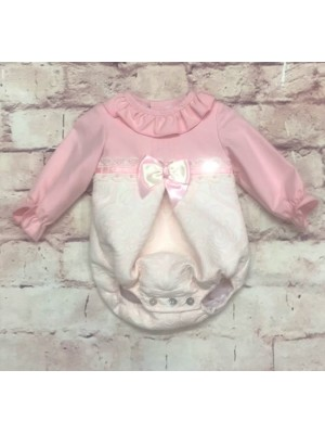 babine pink and cream romper