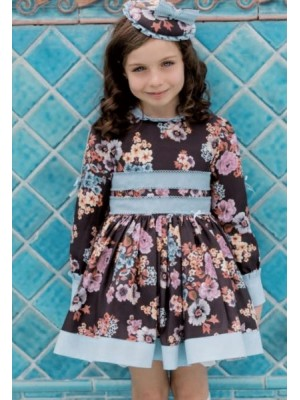 Amore de matre chocolate and blue puffball dress