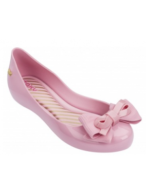zaxy pink bow shoes