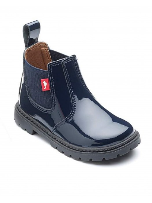 Sold out chipmunk navy patent boots